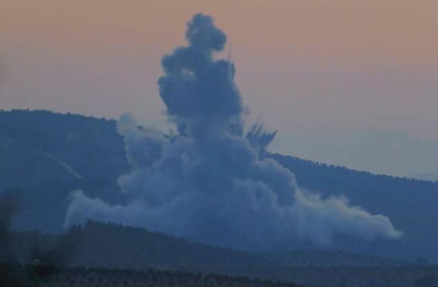 Detonation nahe der türkisch-syrischen Grenze.