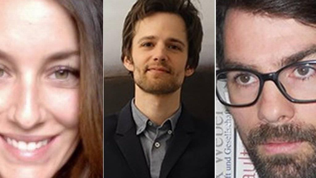 Träger der SAGW-Nachwuchspreise für herausragende wissenschaftliche Aufsätze (v.l.): Aniko Fehr, Pierre Pénet, Juri Auderset. (Bild z.V.g.)