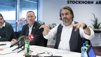 Thuns Präsident Markus Lüthi spricht am Dienstagnachmittag zu den Medien