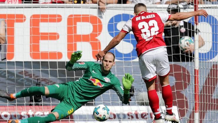 Pablo De Blasis brachte Mainz gegen Leipzig mit einem Foulpenalty in Führung