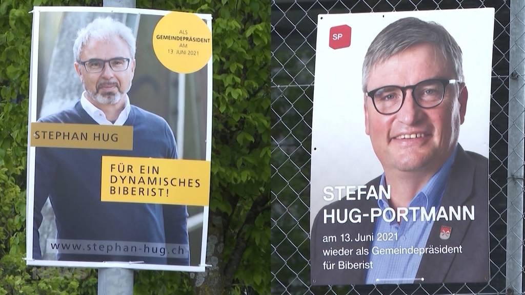 Stefan Hug gegen Stephan Hug: Kampf ums Gemeindepräsidium in Biberist