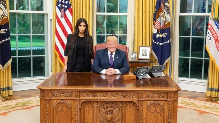 TV-Sternchen Kim Kardashian beim Besuch bei US-Präsident Donald Trump im Weissen Haus.