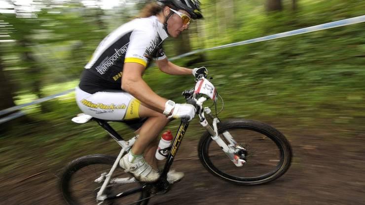 Die Solothurner Mountainbikerin Saner Guinchard