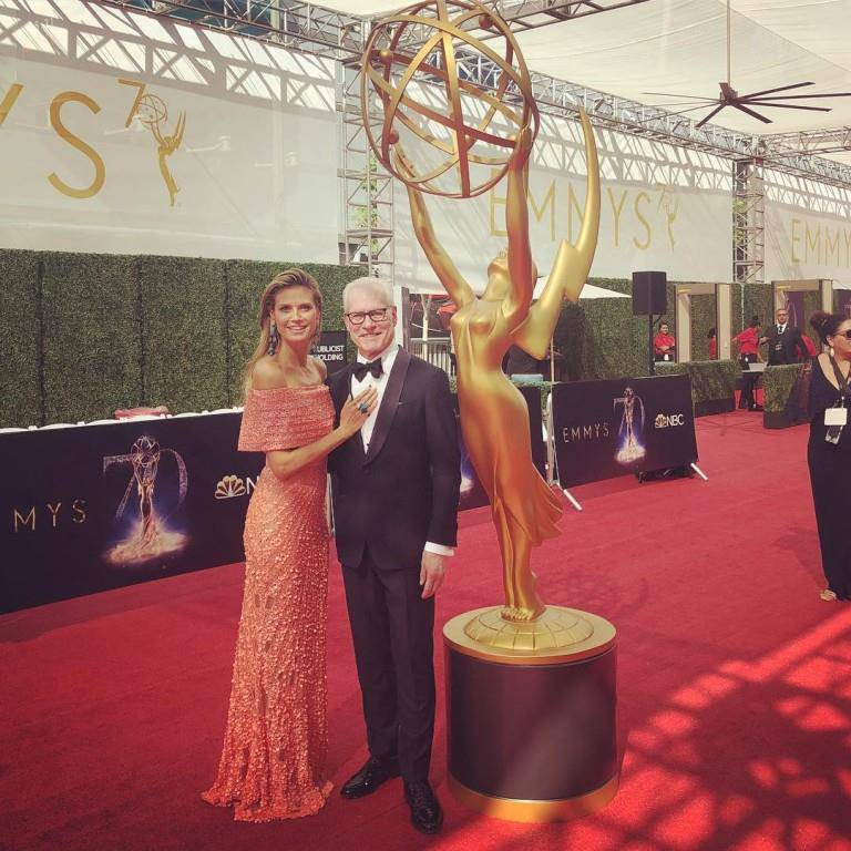Heidi Klum besuchte die Creative Arts Emmy Awards mit Moderationskollege und Freund Tim Gunn. (© Instagram/heidiklum)