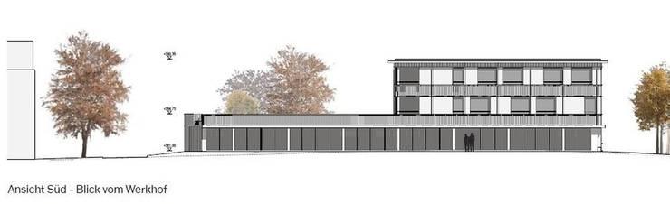 Im Erdgeschoss des geplanten Neubaus befindet sich der Atelierflügel