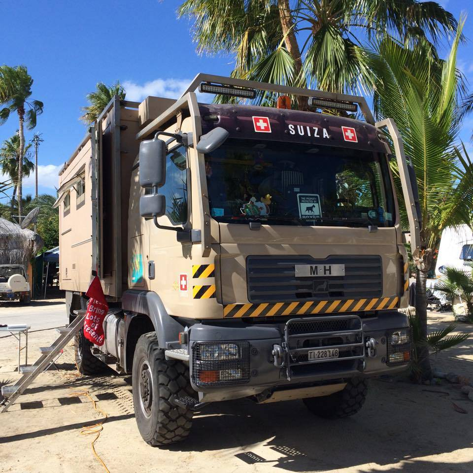 Ein Schweizer Truck hat sich nach Mexiko verirrt.