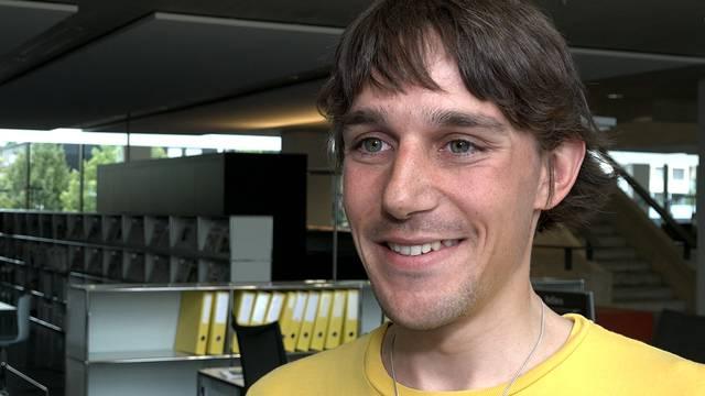 «Eine Kette und ein Armband begleiten mich als Glücksbringer»: Radfahrer Michael Kyburz.
