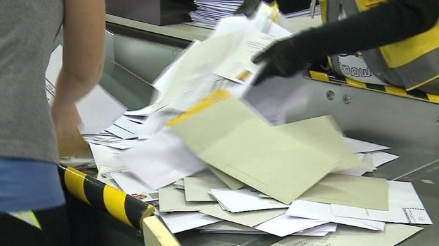Briefverarbeitung wird schliessen