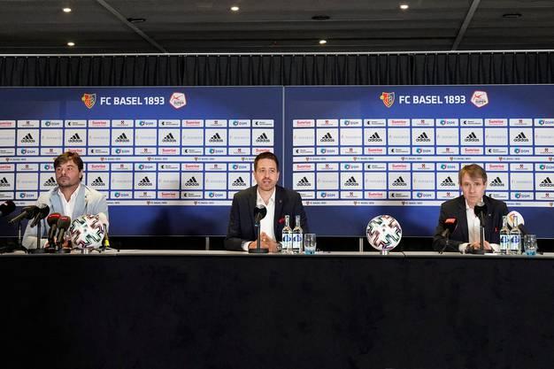 Bernhard Burgener (rechts) gehörte von den knapp 60 Minuten Pressekonferenz eindeutig am meisten Redezeit.