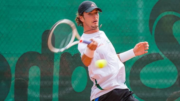 Der 25-jährige Grenchner Vullnet Tahsi will im August möglichst viele ATP-Punkte sammeln, um die Top 800 der Weltrangliste zu knacken.