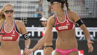 Tanja Hüberli (rechts) und Nina Betschart glänzen am Major-Turnier in Porec