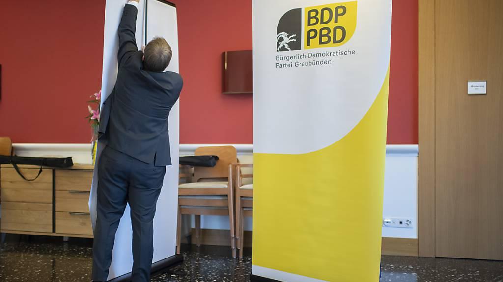 Die Mitglieder der Bündner BDP hängen nur wenig am Parteinamen. 95 Prozent von ihnen wollen die Partei nach einer Fusion mit der CVP umbenennen in Die Mitte Graubünden. (Symbolbild)