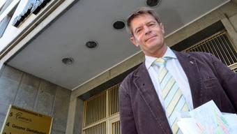 Neuer Hausherr: Gabriel Barell vor dem Gewerbeverband.