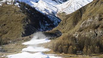 Ohne Schneekanonen gäbe es an manchen Orten keine Skipisten mehr