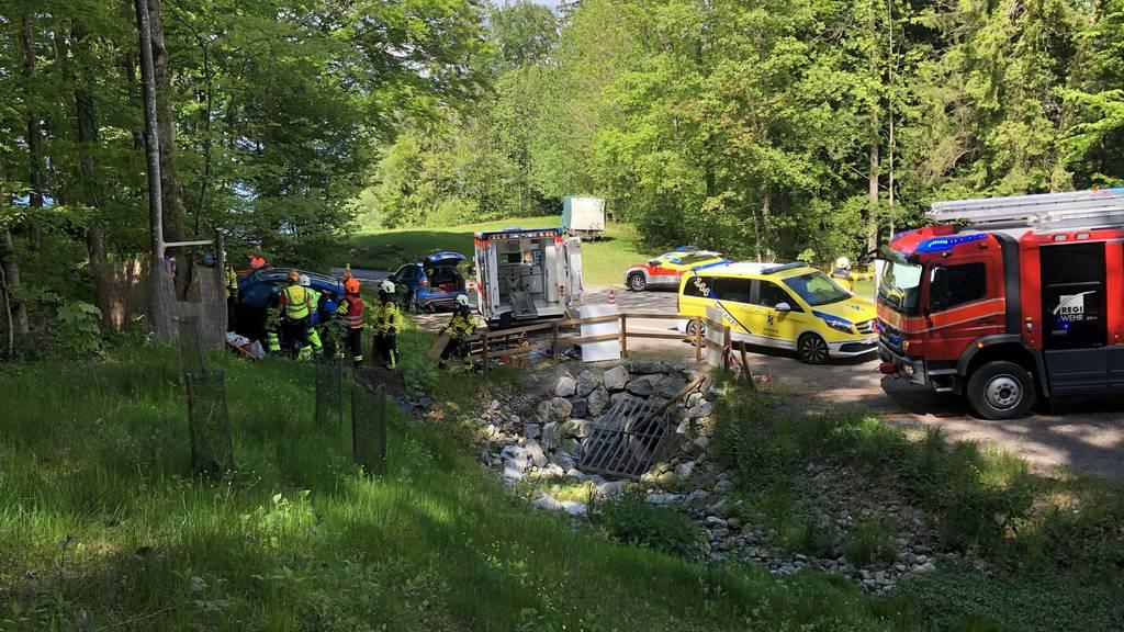 Auto fährt ungebremst in Böschung und prallt in Baum – Fahrerin schwer verletzt
