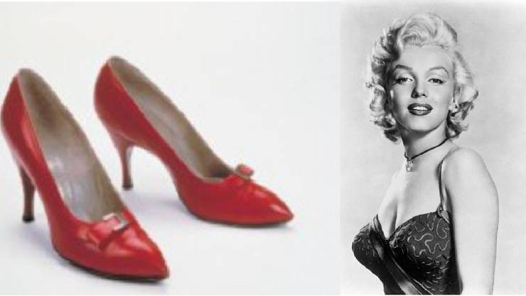 Marilyn Monries rote Schuhe