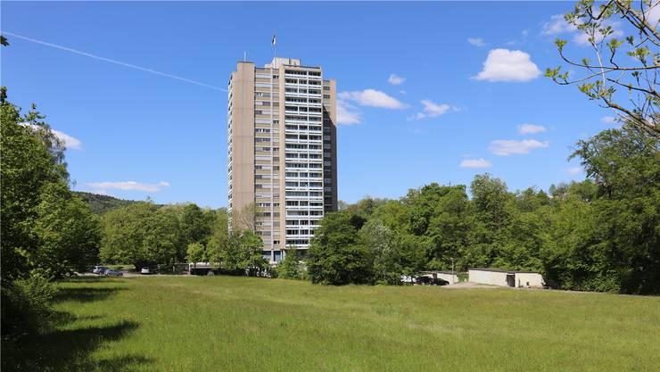 Hier entsteht die neue Siedlung: Das Brisgi mit dem Hochhaus von 1964.