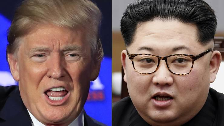 Donald Trump und Kim Jong Un treffen in Singapur aufeinander.