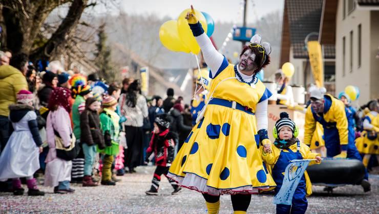 Der Fasnachtsumzug in Würenlingen ist jedes Jahr ein Highlight. Dieses Jahr feiert die Fasnachtsgesellschaft ihr 50-jähriges Bestehen.