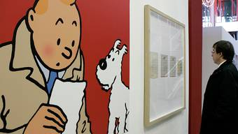 Eine Zeichnung der Comic-Figuren Tim und Struppi ist für viel Geld unter den Hammer gekommen. (Symbolbild)