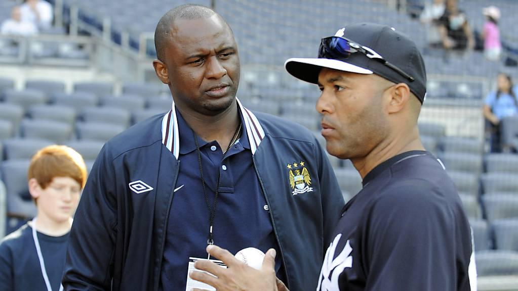 Patrick Vieira (links) nimmt eine neue Herausforderung an.