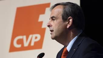 CVP-Parteipräsident Gerhard Pfister sprach sich am Samstag an der Delegiertenversammlung der CVP Schweiz in Frauenfeld gegen die Begrenzungsinitiative aus.
