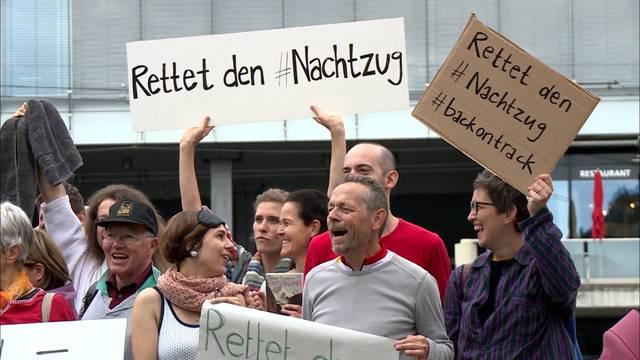 Protest gegen Streichung von Nachtzügen