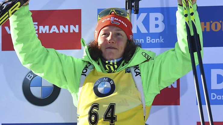 Laura Dahlmeier gewann in Hochfilzen ihre dritte Medaille
