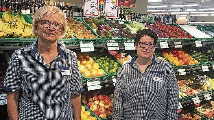 Doris Bucher und Susanne Krummenacher (v.l.). Für das Foto kurz ohne Maske.