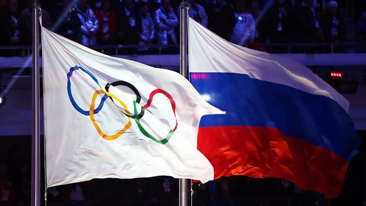 Die russischen Athleten müssen auch an der Schlussfeier in Pyeongchang auf ihre Nationalflagge verzichten
