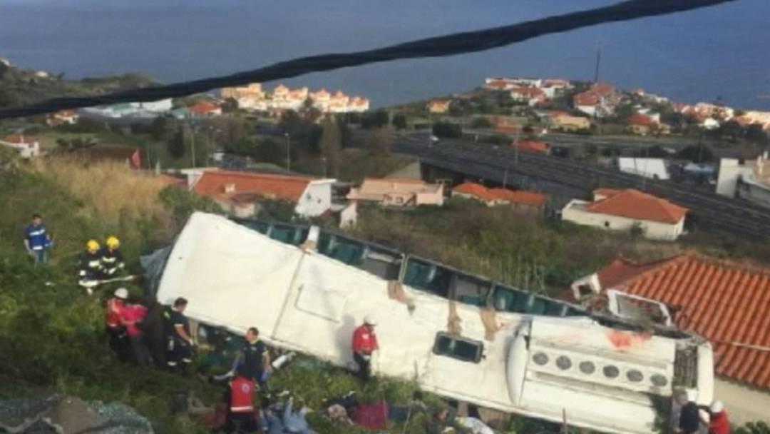 Viele Tote bei Busunglück auf Madeira
