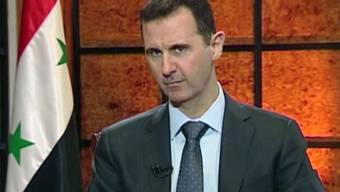 Aufnahme von Syriens Machthaber Baschar al-Assad vom April 2013