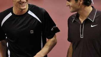 Marco Chiudinelli und Roger Federer