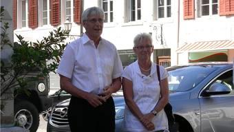 Ernst und Ursula Pelloli-Arnold an der Abschiedsfeier in Mellingen.