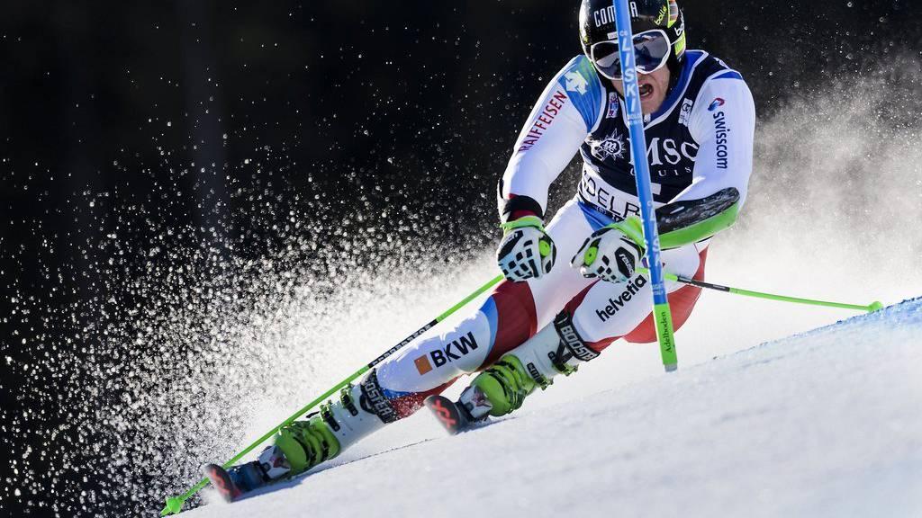 Justin Murisier war beim Riesenslalom in Adelboden am Samstag bester Schweizer, er fuhr auf Rang 11.