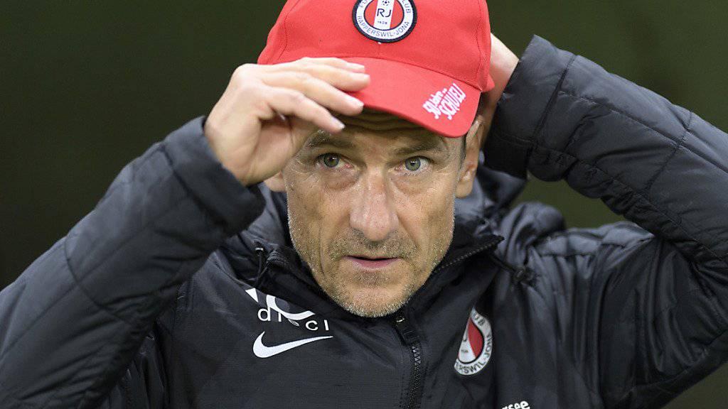 Dank Auswärtssieg neu auf Platz 4 der Challenge League: Der frühere FCZ-Trainer Urs Meier reitet mit Aufsteiger Rapperswil-Jona auf einer Erfolgswelle