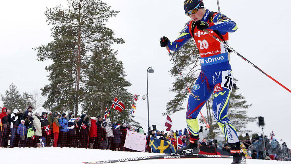 Marie Dorin-Habert wird auch vom norwegischen Publikum angefeuert