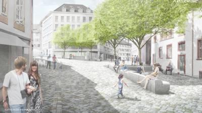 Visualisierungen des siegreichen Wettbewerbprojektes «Platzlichtung»