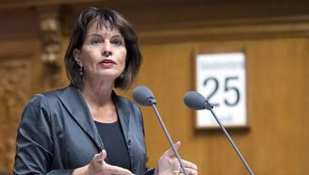 Medienministerin Doris Leuthard plädiert in der Debatte zur No-Billag-Initiative für einen starken Service public.
