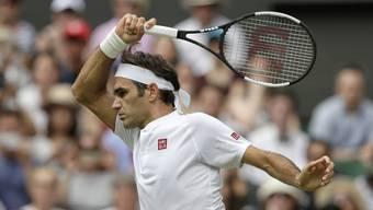 Impressionen zum Spiel von Roger Federer gegen Lukas Lacko bei Wimbledon 2018