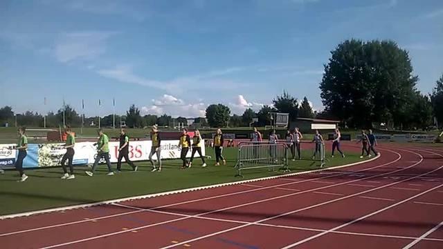 Die Siegerehrung an den Team Schweizer Meisterschaften