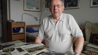 Ernst Wiedmer (87), der als junger Mann dem Dichter Josef Reinhart vorlas.