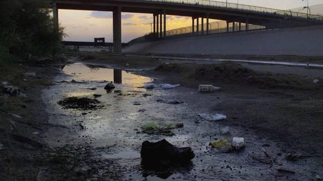 Bisweilen ist der Rio Grande nicht mal mehr ein Flüsschen: Aufnahme aus Ciudad Juarez, Mexiko (Archiv)