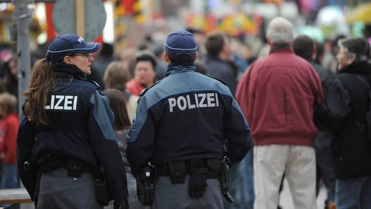 Polizei an der Herbstmesse in Basel