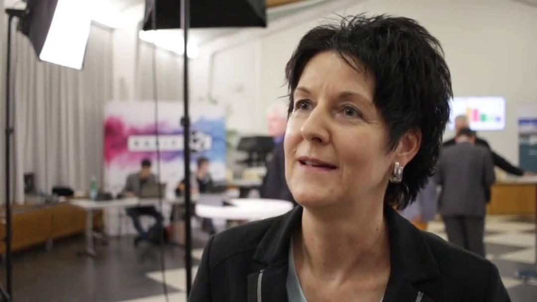 Sandra Kolly-Altermatt, Präsidentin der CVP Kanton Solothurn, ist zufrieden mit den Wahlresultaten