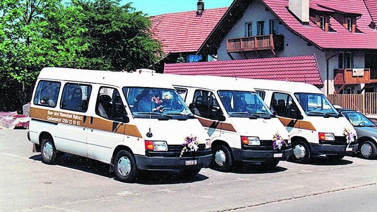 Die Maxi-Taxi-Flotte im Jahr 1988.