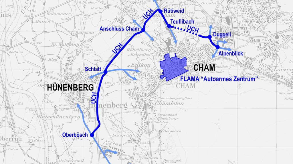 In Cham soll der Verkehr mit neuer Umfahrung entlastet werden