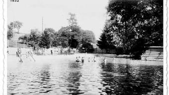 Der Bachtelenweiher um 1932.