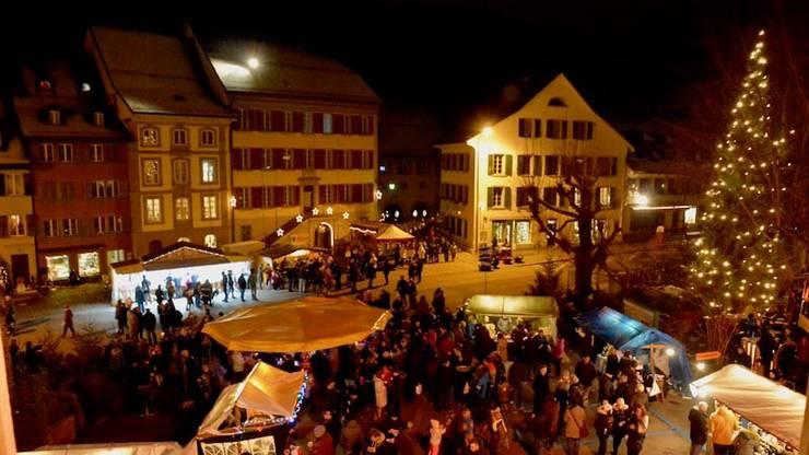 Der Weihnachtsmarkt im Städtli von Aarburg