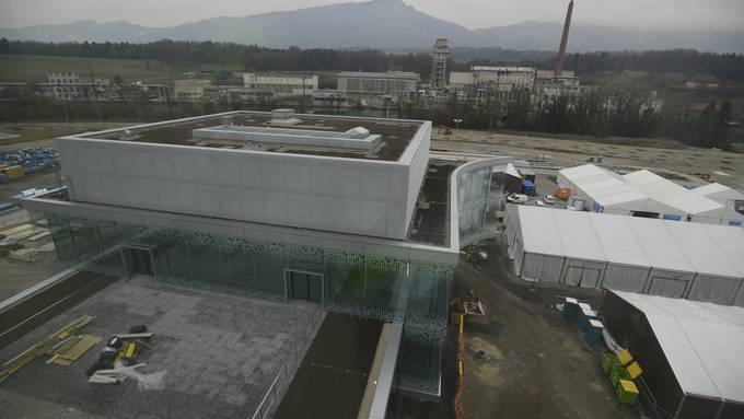 Rundgang auf der Biogen-Baustelle im März 2018